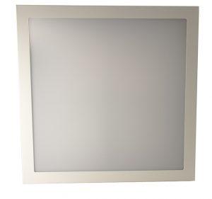 Astro -julkitilavalaisin on laadukas 600x600 backlit modulivalaisin. Kuvassa neliön muotoinen valoaukko.